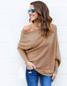 f65a096c8f6 sweater women 2018 new Spring Autumn winter Fashion Sexy Dew shoulder long  Batwing Sleeve