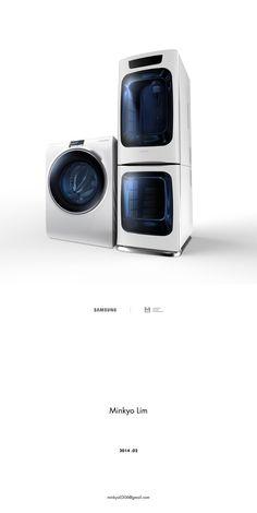 삼성 세탁기&건조기.세개가 세트로 세탁기에서 탈수를 하지만 급하게 입고가야할땐 건조기를 쓰면된다.서랍처럼 만들어놓아 세탁기와 함께 놓기 좋다.
