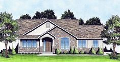 House Plan 62637 | Traditional Plan with 1370 Sq. Ft., 3 Bedrooms, 2 Bathrooms, 2 Car Garage
