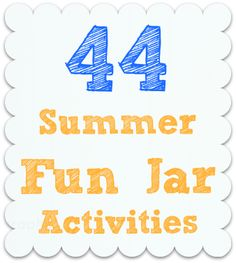 Craft, Interrupted: 44 Summer Fun Jar Activities!  This is my friend's blog, and she has the best ideas for keeping her kids busy with fun activities.