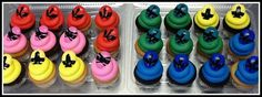 power ranger cupcakes - Google Search