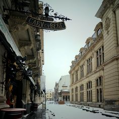 Snowy Bucharest, Romania (by fusion-of-horizons) Places Around The World, Oh The Places You'll Go, Places To Visit, Around The Worlds, Budapest, Little Paris, Central And Eastern Europe, What A Wonderful World, Wonders Of The World