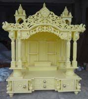 Code 74 Wooden Carved Teakwood Temple / Mandir, Wooden Temple Wooden Temple  / Mandir