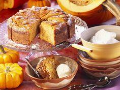 Rezept: Süßer Kürbis-Nuss-Kuchen