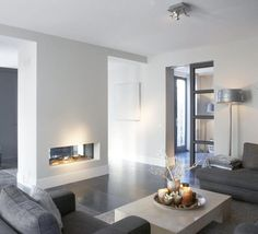 Having small living room can be one of all your problem about decoration home. To solve that, you will create the illusion of a larger space and painting your small living room with bright colors c… Living Room Interior, Home Living Room, Living Room Designs, Living Spaces, Home Fireplace, Fireplace Design, Fireplace Ideas, Country Fireplace, Simple Fireplace