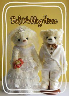 Ruffle wedding teddy bear