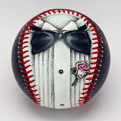 Tuxedo BaseballDressed for success! This baseball is a magnificent painting of a tuxedo, complete with cummerbund, and black paisley design detailed onto the ba Baseball Dress, Baseball Gifts, Baseball Art, Sharpie Pens, Wedding Officiant, White Gift Boxes, Paisley Design, Well Dressed Men, Groomsman Gifts