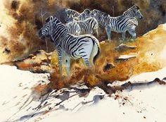 Karen Laurence-Rowe | WATERCOLOR | African Wildlife