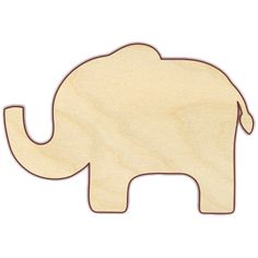 Paint this elephant and create a great piece of nursery wall art. Giraffe, monkey and zebra also available. Elephant Template, Elephant Pattern, Animal Templates, Scroll Saw Patterns Free, Wooden Elephant, Wooden Shapes, Wood Cutouts, Wood Ornaments, Applique Patterns