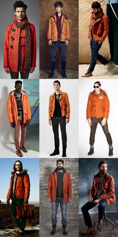 Men's Orange Outerwear Lookbook