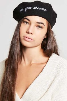 d480398d409f7 Forever 21 In Your Dreams Wool Beret Forever 21 Outfits