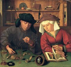 Quentin_Massys the Money Changer and His Wife. 1514