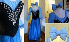 Ariel Day Dress by glimmerwood on DeviantArt Day Dresses, Blue Dresses, Girls Dresses, Summer Dresses, Formal Dresses, Ariel Cosplay, Cosplay Dress, Costume Wigs, Cosplay Costumes
