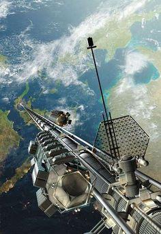 Un ascenseur pour aller dans l'espace en 2050
