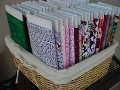 fabric storage--such a great idea! And totally a why didn't I think of that one