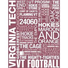 Virginia Tech Pride Print - Wall - Dorm + Apt