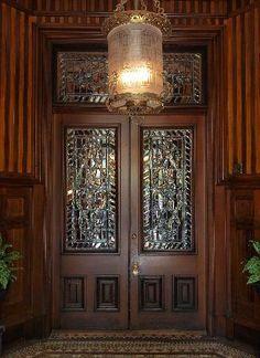 entrance doors to the   The Calhoun Mansion,   Charleston, SC