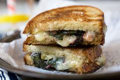 In honor of National Grilled Cheese Day, indulge in Sautéed Rainbow Chard and Gruyére Grilled Cheese.