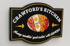 Crawford's Kitchen House Sign | Danthonia Designs