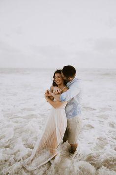 Beach Engagement Photos, Beach Wedding Photos, Wedding Photoshoot, Engagement Couple, Engagement Photo Hair, Engagement Session, Couples Beach Photography, Beach Couples, Family Photography
