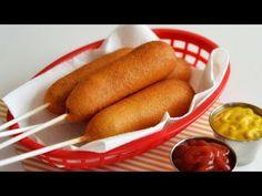 Cum să faci corn dogs! | How to make corn dogs! Corn Dogs Recipe! Corn Dogs Receta, Tapioca Yoki, Appetizer Salads, Appetizers, Hot Dog Buns, Hot Dogs, Corndog Recipe, How To Make Corn, Soup And Salad