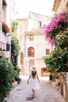 Gal Meets Glam White Shirtdress in St. Paul de Vence - DVF dress, Jack Roger sandals, Mark Cross bag & Preston & Olivia hat