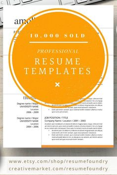 Beat the competition with modern professional resume design, Resume Templates compatible with Mac & PC, Microsoft Word - Instant Download - Completely Customizable Microsoft Word Resume Template, Modern Resume Template, Creative Resume Templates, Cv Template, Resume Tips, Resume Examples, Design Resume, Resume Words, References Page