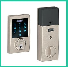 An old-school electric lock that can be managed through your smartphone; up to 19 different combinations can be created