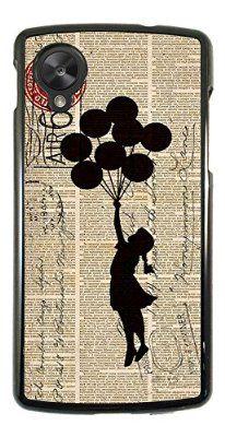 505 - Banksy Grafitti Floating Balloons Stamps Design Per Tutti LG Google Nexus 4 / LG Google Nexus 5 Case Caso / Cover copertura posteriore / Scegli il tuo modello di telefono da set e il colore Banksy, Thing 1, Case, Card Ideas, Playing Cards, Crafty, Google, Design, Home Decor