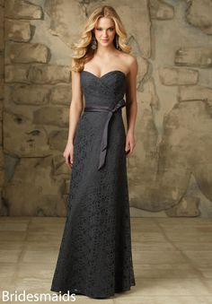 Wedding Dresses, Bridesmaid Dresses, Prom Dresses and Bridal Dresses Mori Lee Bridesmaid Dresses - Style 103 - Mori Lee Bridesmaid Dresses, Fall Strapless sweetheart floor length lace dress with zipper back. Shown in Charcoal. Mori Lee Bridesmaid Dresses, Discount Bridesmaid Dresses, Bridal Dresses, Flower Girl Dresses, Prom Dresses, Dresses 2016, Dresses Online, Party Gown Dress, Tulle Dress