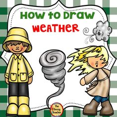 This How to Draw Weather– A Directed Drawing Activity is a set of drawing and writing activities. Directed drawing process is a great activity for young learners besides drawing and writing. This product includes 3 levels of writing for the following weather drawings: tornado, partly cloudy, windy, rainbow, thermometer, umbrella, sun, thunderstorm, rain, cloud, and snow. #howtodraw #weathertheme #thebeezyteacher Easel Activities, Drawing Activities, Drawing Process, Drawing Skills, Elementary Science, Elementary Schools, Teaching Schools, Teaching Ideas, Weather Lessons
