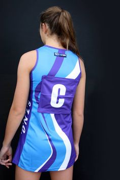 Light weight micromesh is the best fabric for netball dresses - you can have it fully printed with your design and it's slightly stretchy and oh so comfortable. Netball Uniforms, Netball Dresses, Long Sleeve Polo, Ms Gs, Suits You, A Team, Your Design, Designer Dresses, Athletic Tank Tops