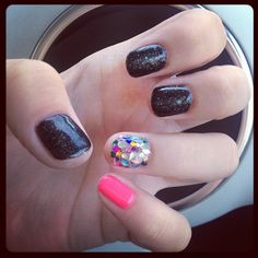 Jessica GELeration in Black Ice, Soak Up The Sun and a mosaic nail!