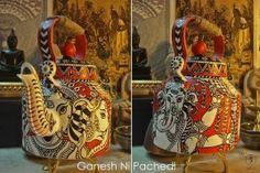 Ganesh ni Pachedi – Hand Painted Kettle