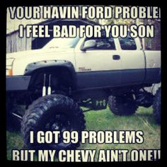 That's YOU'RE! Typical Chevy owner......Snort!