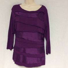 Vince Camuto Ruffled Purple Top Size Large This beautiful ruffled top by Vince Camuto and is in the size of large. So no trades please. Vince Camuto Tops