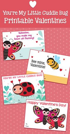You're My Little Cuddle Bug Printable Valentine's Day Cards for Kids  Silver Dolphin Children's Books