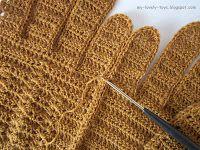 мастер класс - вязание перчаток крючком, схемы вязания перчаток крючком, мк вязание перчаток крючком, master class - crochet gloves, crochet gloves tutorial, how to crochet gloves