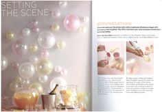 champagne/glittered balloons