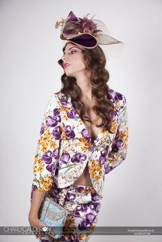 Tocado en piel de ángel #tocados #sombreros #hats #headpieces #millinery #Seville #Andalusia #fashions #fascinators #hautecouture