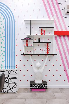 Slovenian Salon brand Mic Styling created a sub-brand to appeal to a younger demographic and got design collaborative Kitsch Nitsch to create these unapologetically 80s style Salons - if Sindy had a hair salon...