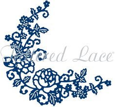 Tattered Lace Die - Delicate Rose Corner