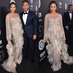 "6,771 Likes, 34 Comments - M O N I C A R O S E (@monicarosestyle) on Instagram: ""@chrissyteigen @johnlegend last night at the @theartofelysium gala😍 John styled by @davethomasstyle…"""