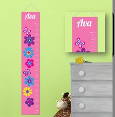 Personalized Children's Growth Charts Girl 925 by CreativeByClair, $21.74