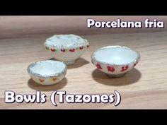 how to: miniature cold porcelain bowls