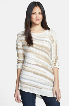 NIC+ZOE 'Sandy Stream' Asymmetrical Sweater (Petite) available at #Nordstrom