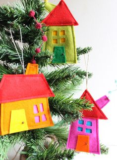 Felt House ornaments
