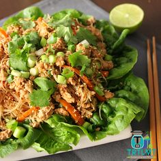 Chicken san choy - Join us This recipe is loosely based off my Beef San Choy Bow recipe posted in 2014 but revamped with some new Mince Recipes, Cooking Recipes, Healthy Recipes, Weekly Recipes, Savoury Recipes, Meal Recipes, San Choy Bow Recipe, Clean Eating, Healthy Eating