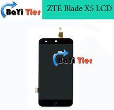 100% 높은 품질 zte blade x5 lcd 화면 교체 lcd 디스플레이 + 터치 스크린 zte blade x5 휴대 전화 + 무료 도구