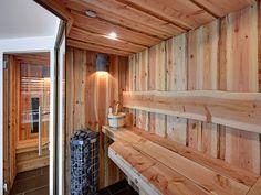 Sauna made by VSB Wellness Building A Sauna, Finnish Sauna, Sauna Room, Spa Rooms, Infrared Sauna, Bathroom Spa, Hygge, House Plans, Architecture